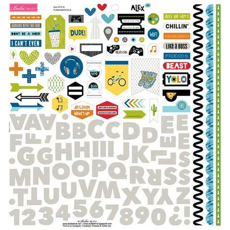Alex Sticker - Alex Cardstock Stickers 12