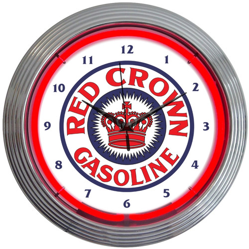 Neonetics Crown 15'' Gasoline Neon Wall Clock