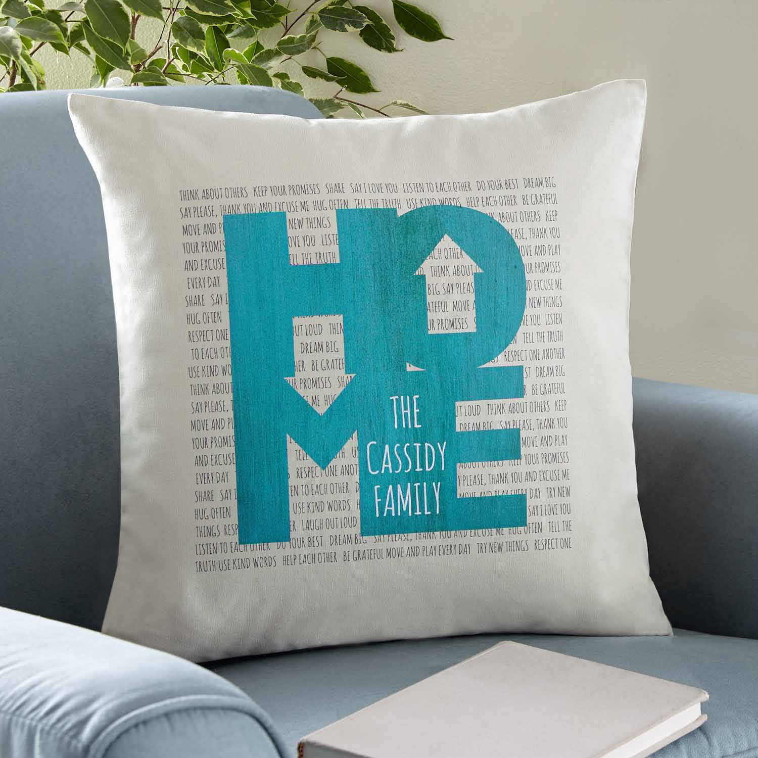 Personalized Love Rules the Home Pillow