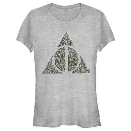 Junior's Harry Potter Deathly Hallows Secret T-Shirt
