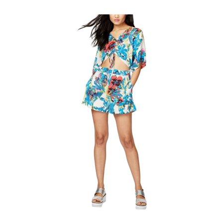 Rachel Roy Womens Floral Romper Jumpsuit creamcombo 8 - image 1 de 1