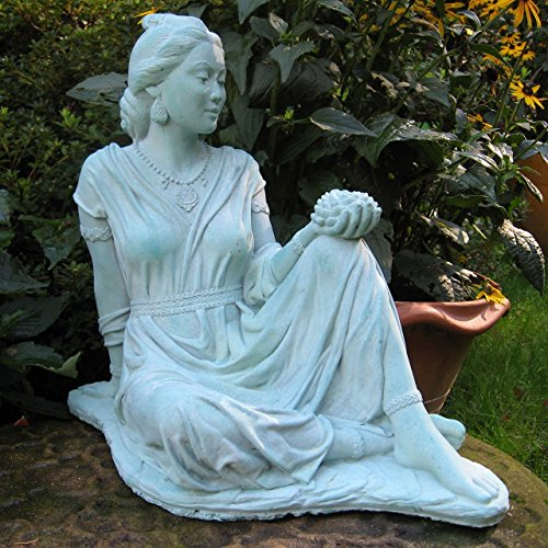 "StoneWorks Quan Yin Garden Statue 17""H (Copper Patina)"