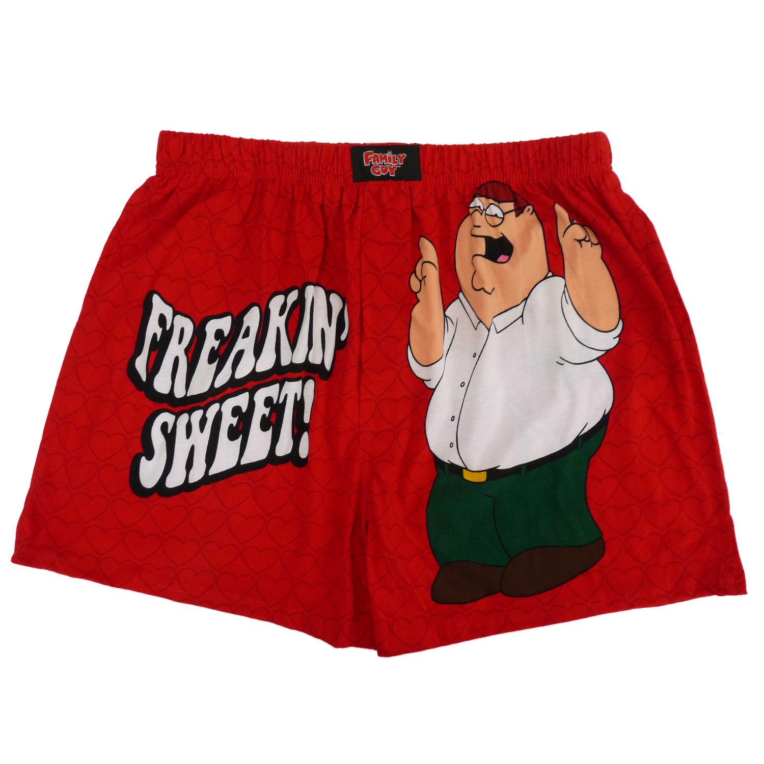 Family Guy Mens Red Valentine's Day Boxers Freakin Sweet Boxer Shorts