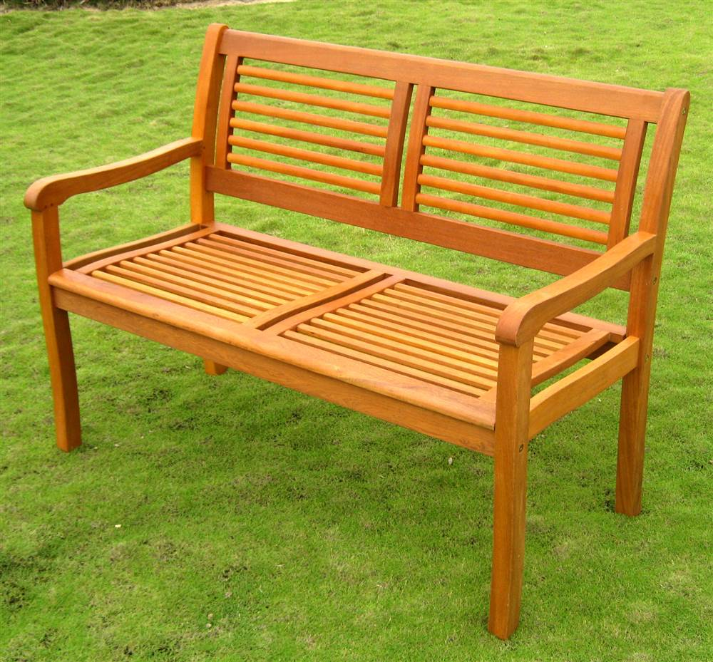 Balau Bar Harbor Patio Park Bench by International Caravan