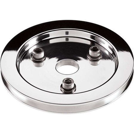 - BILLET SPECIALTIES 81120 Crankshaft Pulleys Polished SBC 1 Groove Lower Pulley