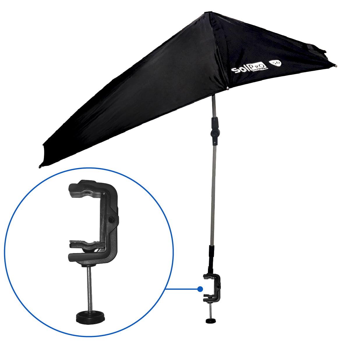 Solpro Clamp On Shade Umbrella 4 Way Clamp Umbrella With