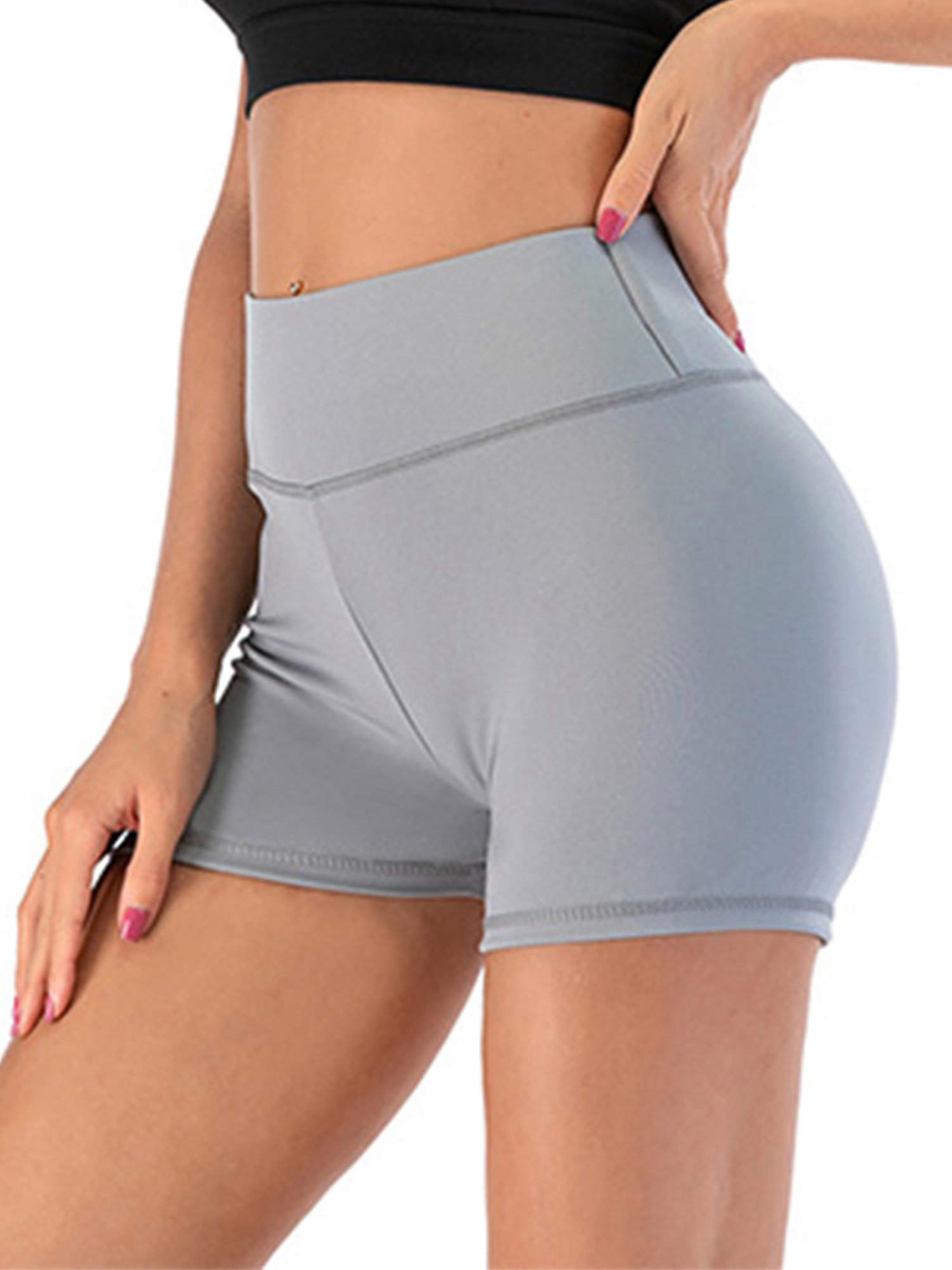 Details about  /Womens Elastic Shorts Yoga Gym Fitness Summer Butt Aift Booty Hot Pant Trouser A