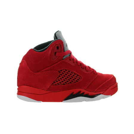 29af6261909 Nike - Kids Air Jordan 5 Retro PS Red Suede University Red Black 440889-602  - Walmart.com