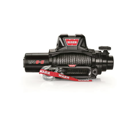 - Warn 96805 Standard Duty Winch; VR8 S; 8000 lb. Pulling Capacity; Incl. 90 ft. of 3/8 in. Synthetic Rope;