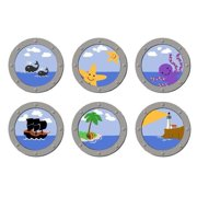 Pirate Port Holes Wall Mural