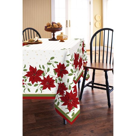Better Homes And Gardens Poinsettia Tablecloth