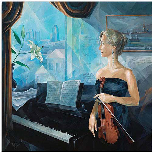 "Trademark Art ""Before the Concert"" Canvas Art by Yelena Lamm"