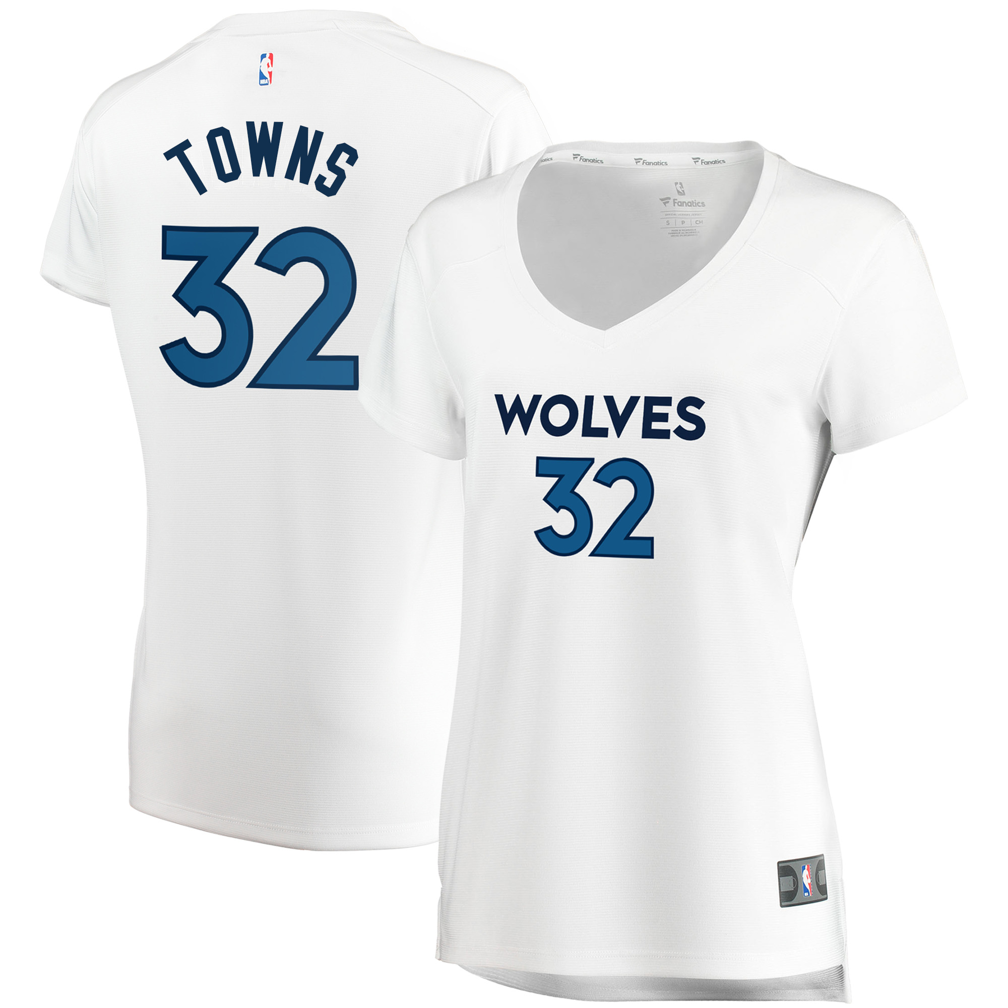 Karl-Anthony Towns Minnesota Timberwolves Fanatics Branded Women's Fast Break Replica Jersey White - Association Edition