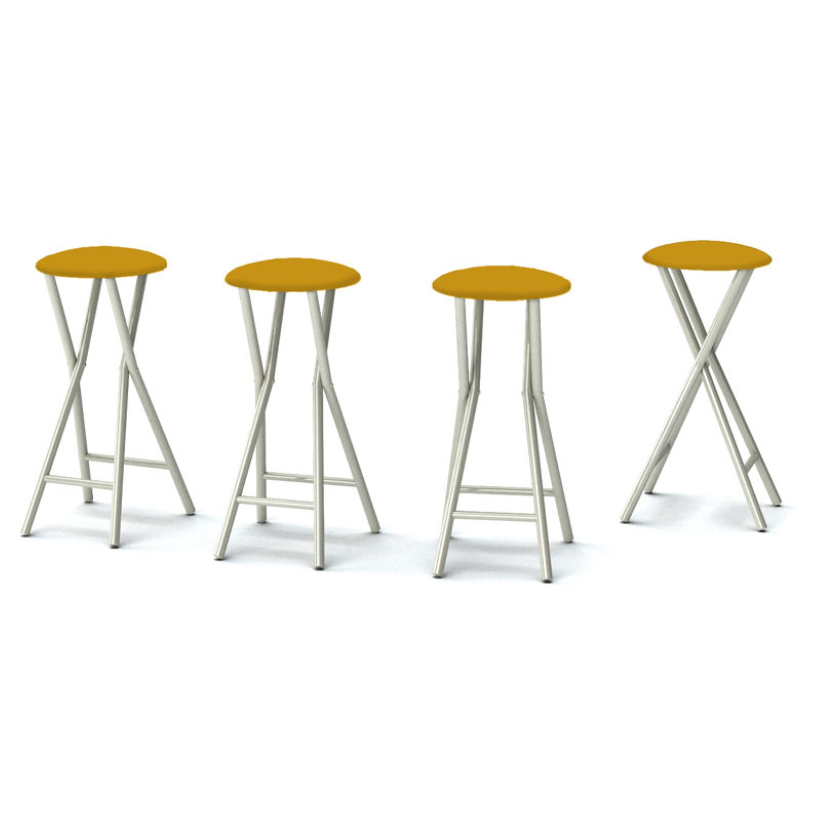 Best of Times Padded Solid Outdoor Backless Bar Stools - Set of 4