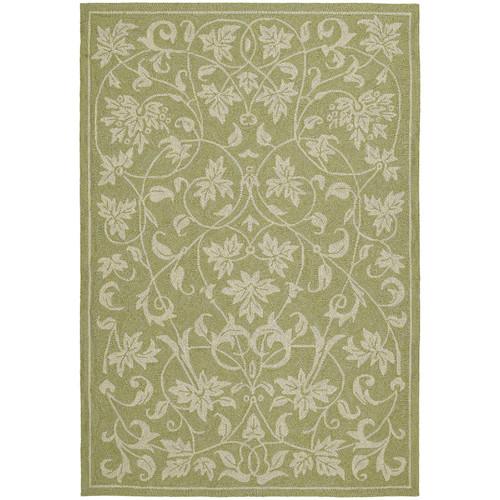 Kaleen Home & Porch Presley Celery Floral Outdoor/Indoor Area Rug