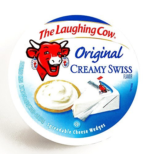 Laughing Cow Original Creamy Swiss Cheese 6 oz each (3 Items Per Order) by