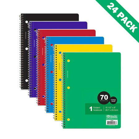 Subject Spiral Notebook, Case Of 24 1-subject Spiral Notebooks Ruled - Super Spiral
