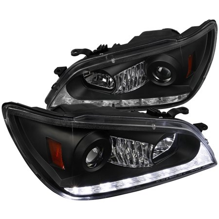 Lexus Is300 Projector (Spec-D Tuning For 2001-2005 Lexus Is300 Black Projector Headlights W/ Led Signal Strip 2001 2002 2003 2004 2005 (Left+Right) )