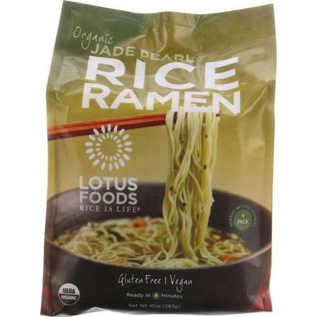 Lotus Foods Ramen - Organic - Jade Pearl Rice - 4 Ramen Cakes - 10 Oz - pack of -
