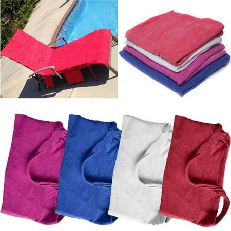 Sun Lounger Beach Bath Towel Mate Buddy Bag Holiday Garden Lounge with Pockets