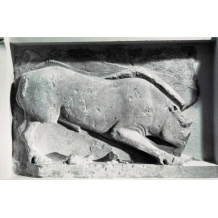 Hand Carved Stone Animal - Hunting Animal - Frieze Of Siphnian Treasure  C530 BC Greek Art(- ) Stone Carving Temple of Delphi Greece Canvas Art -  (24 x 36)