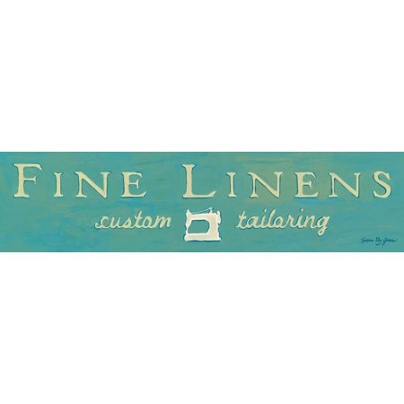 Fine Linens Turquoise Poster Print by Susan Eby Glass Susan Glass Print