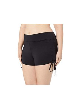 Beach House Womens Plus Size Paloma Beach Adjustable Side Tie Swim Shorts Style-HW58084