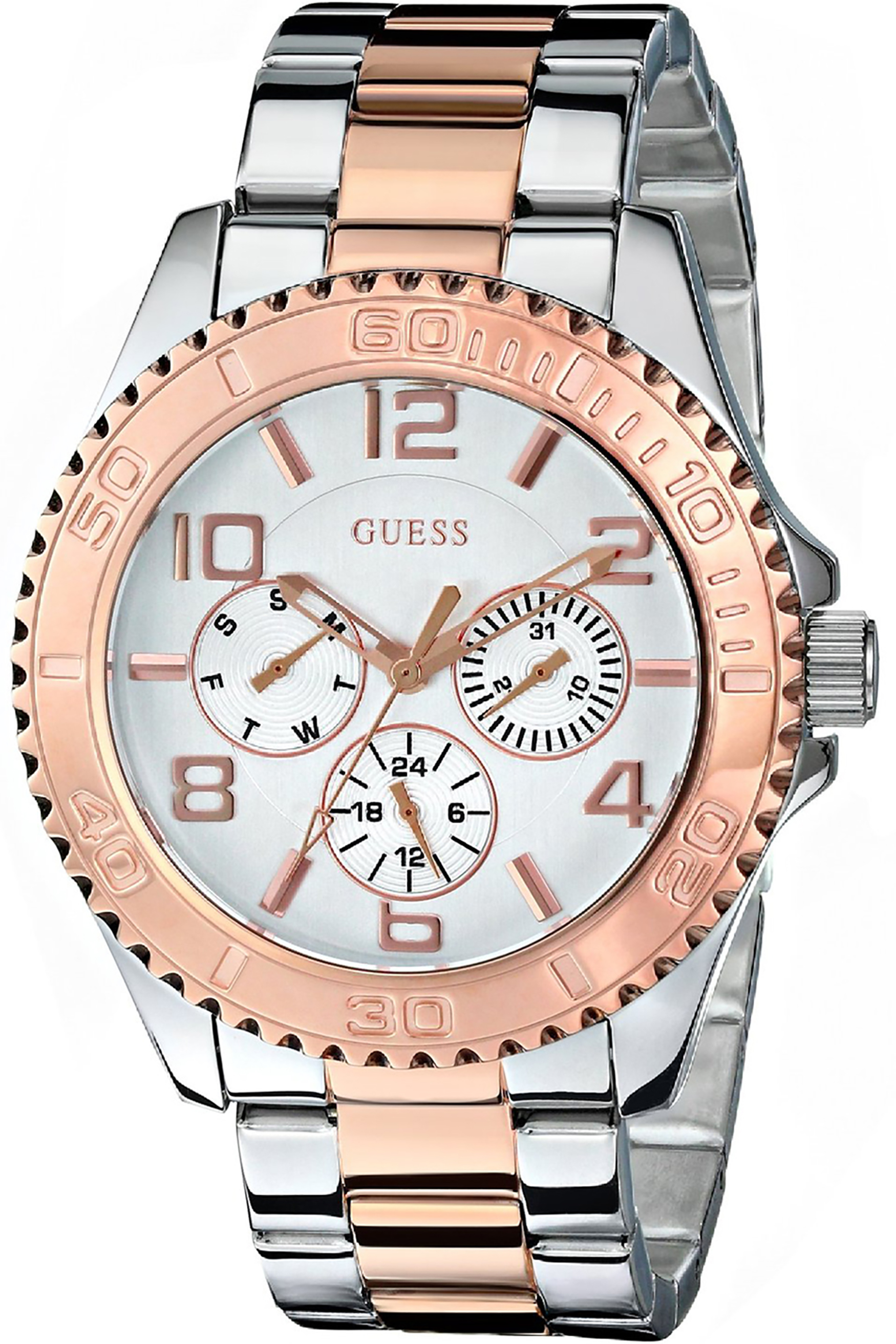 W0231L5,Ladies's Sporty,Stainless Steel & Rose Gold-Tone,Multi-Function,50m WR