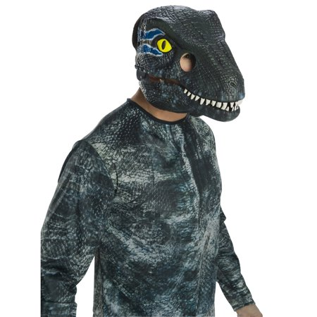 Jurassic World: Fallen Kingdom Velociraptor Movable Jaw Adult Mask Halloween Costume Accessory](Quagmire Halloween Costume Mask)