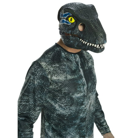 Jurassic World: Fallen Kingdom Velociraptor Movable Jaw Adult Mask Halloween Costume Accessory - Bruce Lee Halloween Mask