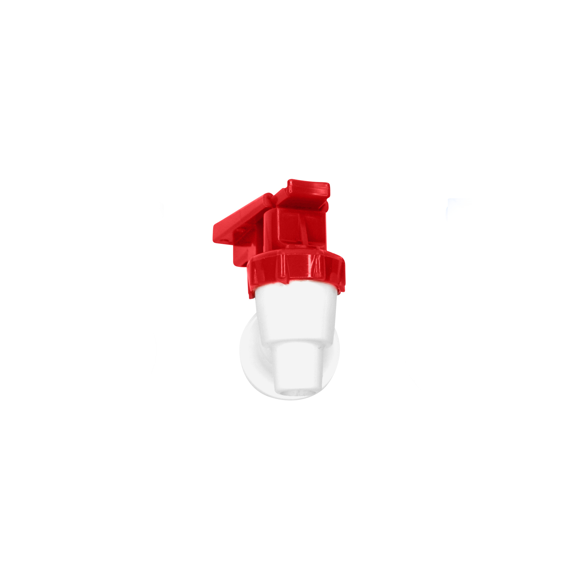 Tomlinson 1009470 White Cooler Replacement Faucet - Red Touch Guard ...