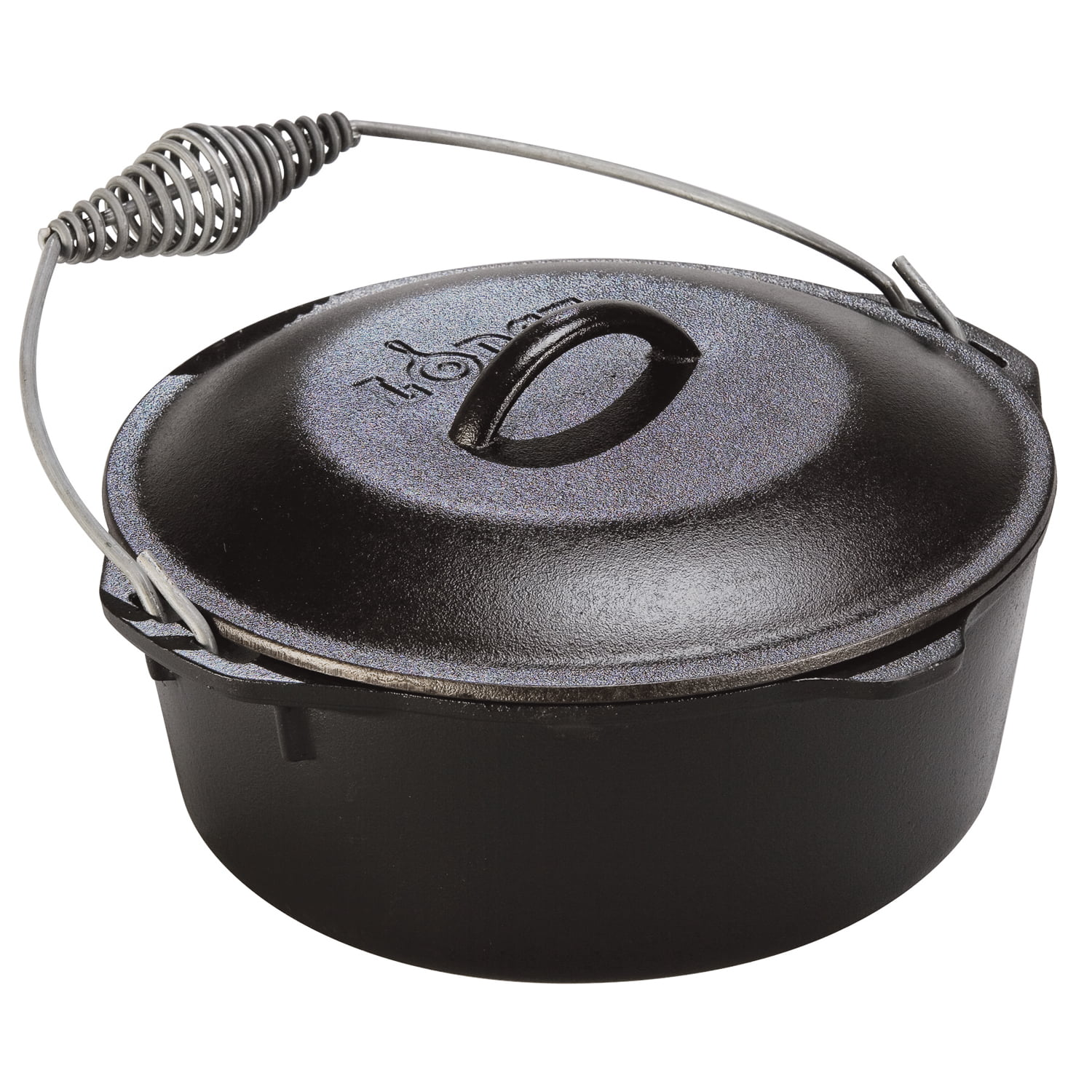 Lodge 7 Quart Cast Iron Dutch Oven With Iron Cover L10DO3 by Lodge Mfg Co