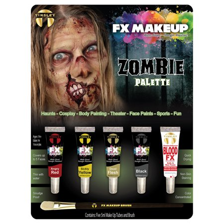 Maquillage Halloween Zombie (Undead Walker Zombie Color Set FX Makeup Kit Costume)