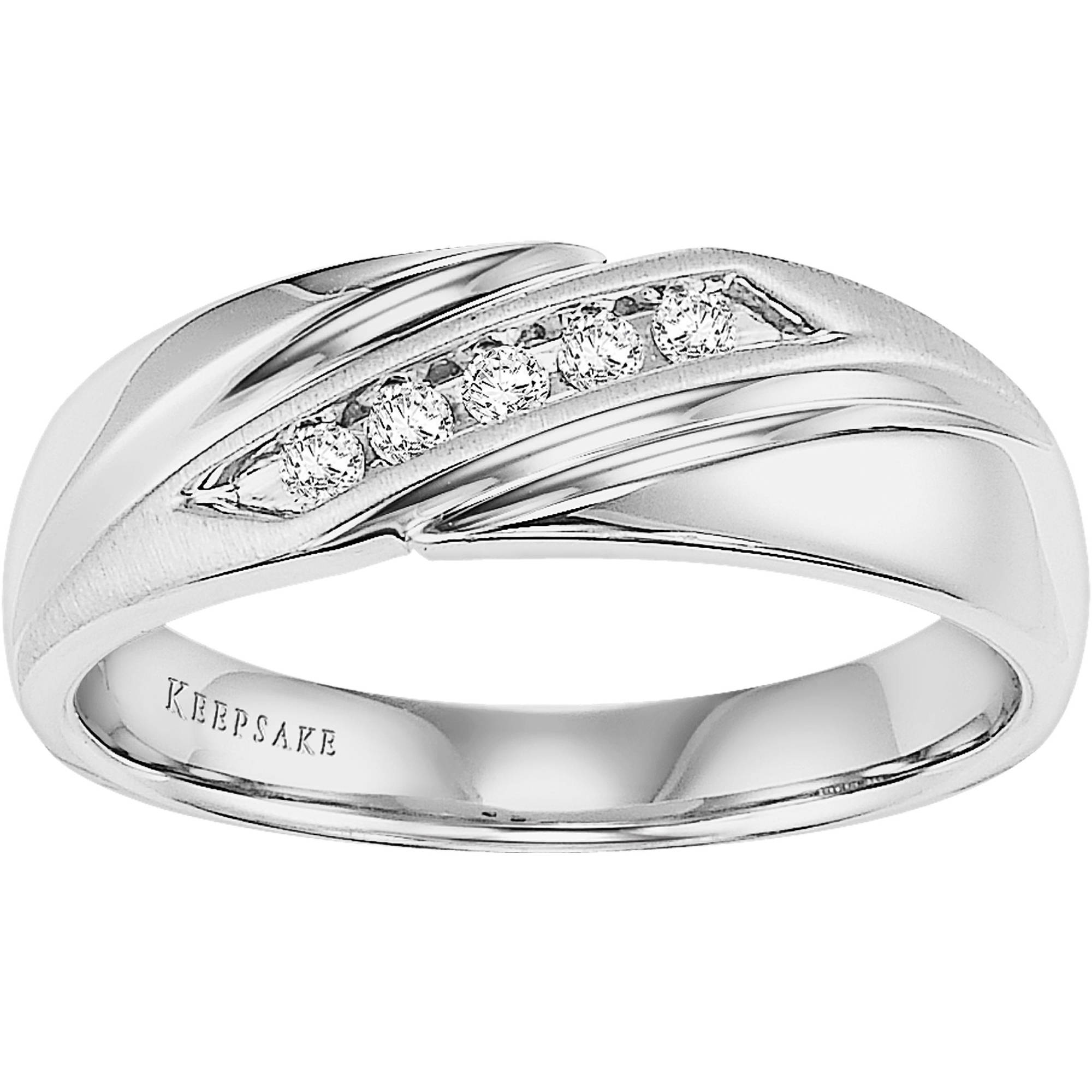 Forever Bride Genuine Diamond Accent Sterling Silver Band