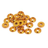 M3 Aluminum Alloy Fender Bumper Engine Dress Up Washer Gold Tone 20pcs