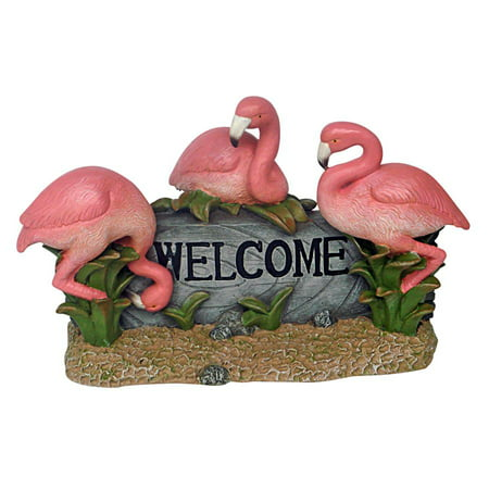 Pink Flamingos For Sale (Design Toscano Pink Flamingo Welcome)