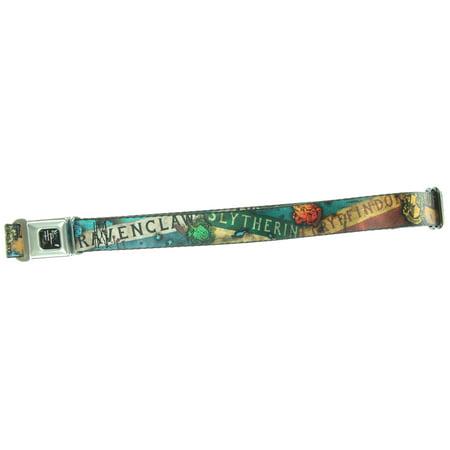 Harry Potter Kids Seatbelt Belt Full Color Hogwarts House Banners-Holds Pants Up