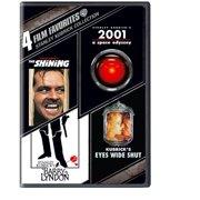 4 Film Favorites: Stanley Kubrick The Shining   2001: A Space Odyssey   Barry Lyndon   Eyes Wide Shut (Widescreen) by TIME WARNER