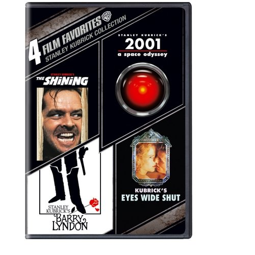 4 Film Favorites: Stanley Kubrick - The Shining / 2001: A Space Odyssey / Barry Lyndon / Eyes Wide Shut (Widescreen)
