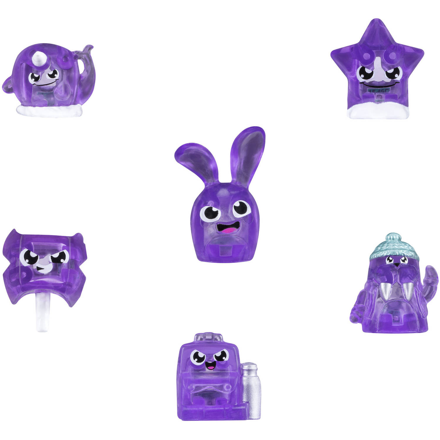 Hanazuki Treasure 6-Pack Purple/Courageous (Collection 1)
