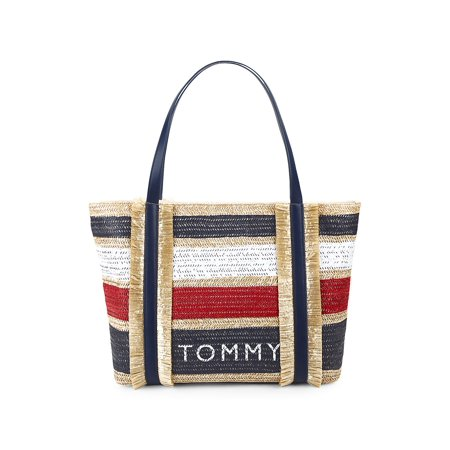 Striped Piper Tote Bag (Tommy Hilfiger Large Tote)