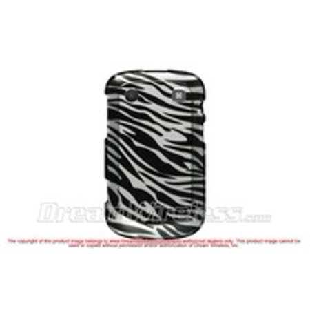 - BLACKBERRY DAKOTA / 9900 (T-MOBILE) / 9930 (VERIZON) CRYSTAL CASE SILVER+BLACK ZEBRA-CABB9900SLZ