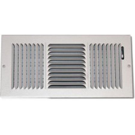 14X8 White 3-Way Stamped Vent Cover  Shoemaker 845 Series