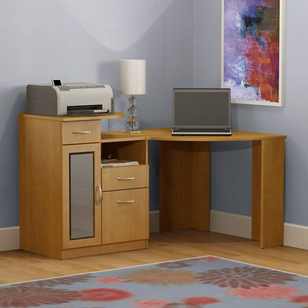 Bush Vantage Maple Corner Computer Desk Walmart Com