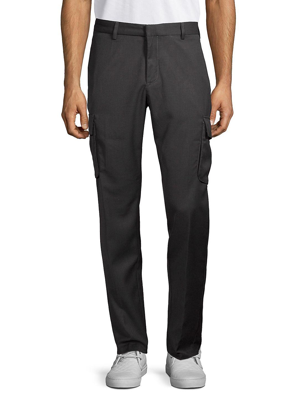 Straight-Leg Cotton Cargo Pants