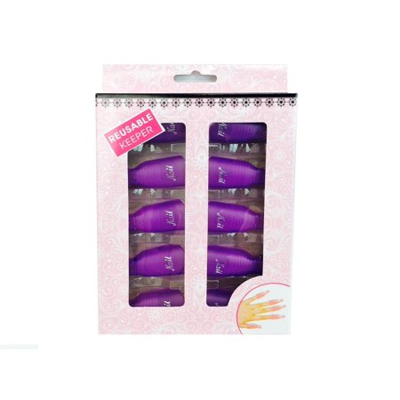 Pana High Quality  Nail Polish Remover Clip Cap - Frosted Purple