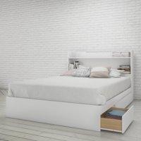 Nexera Aura Storage Bed and Headboard, White