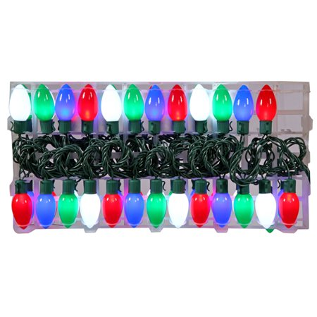 set of 48 led opaque multi color c9 christmas lights 16. Black Bedroom Furniture Sets. Home Design Ideas