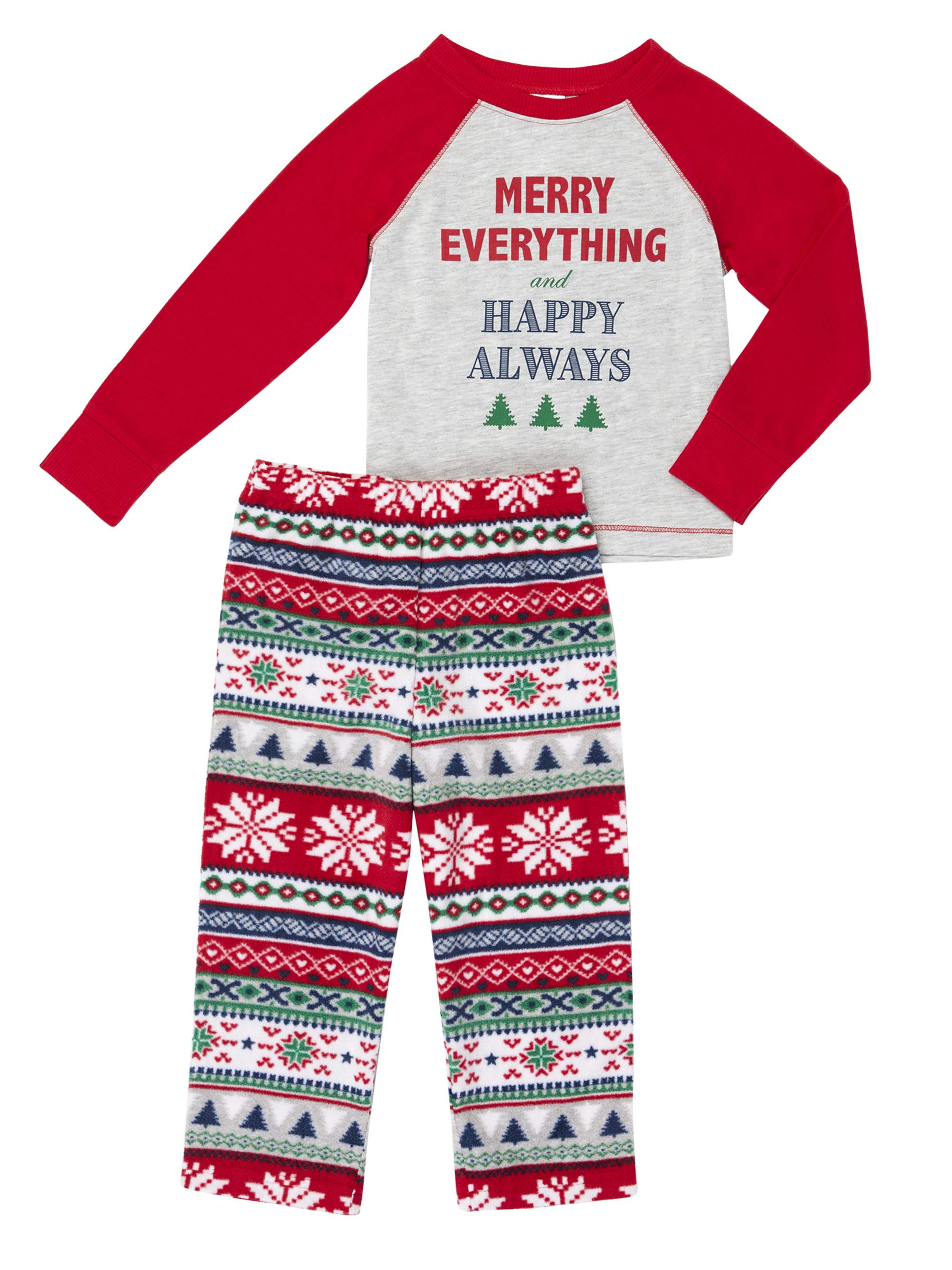 dd99b33665b6 Family Sleep Merry Everything Pajamas 2-Piece Set (Toddler Boys or ...
