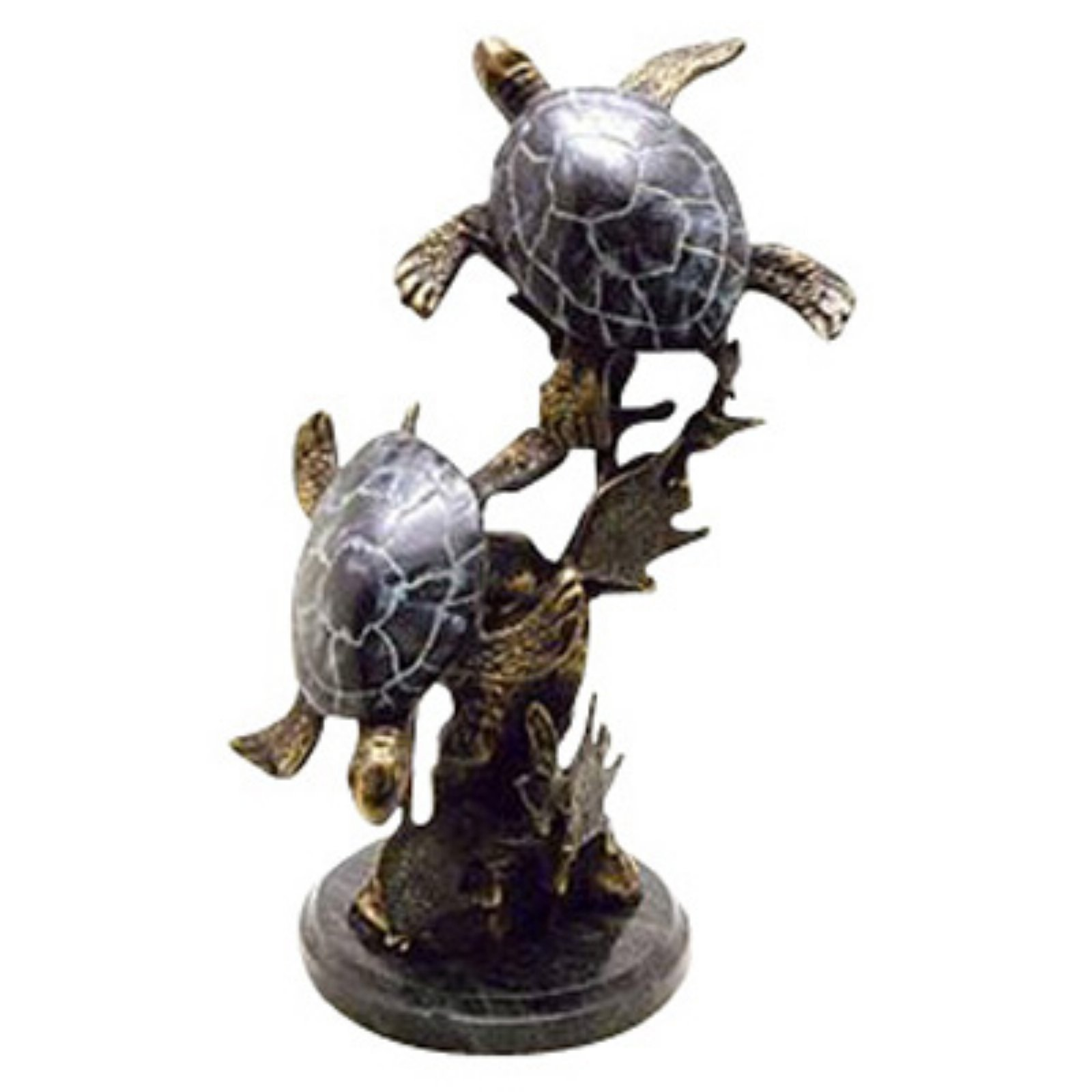 San Pacific International 11.5H in. Sea Turtle Duet Statue